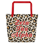 Zeta Tau Alpha Red Hot Cheetah - Tote Bag