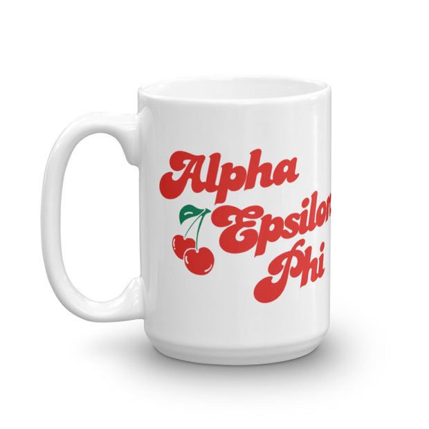 Alpha Epsilon Phi Coffee Mug - Cherry on Top