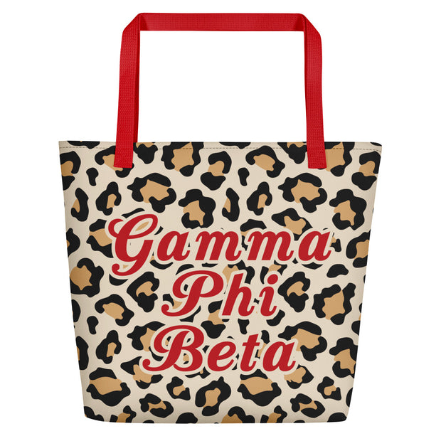 Gamma Phi Beta Red Hot Cheetah - Tote Bag