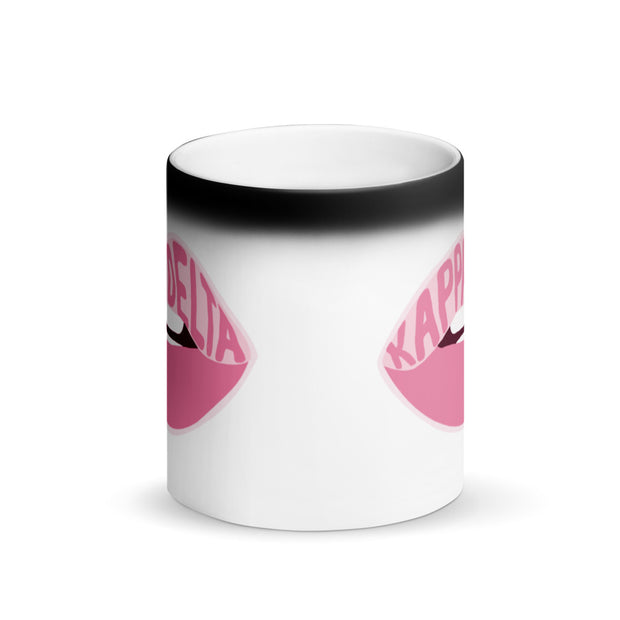 Kappa Delta Magic Coffee Mug - Pink Lips