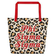 Phi Sigma Sigma Red Hot Cheetah - Tote Bag