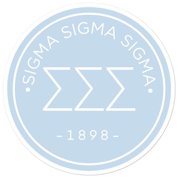 Sigma Sigma Sigma circle sticker