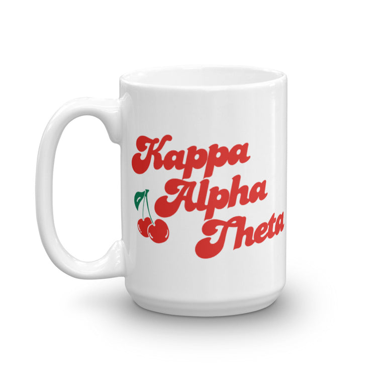 Kappa Alpha Theta Coffee Mug - Cherry on Top