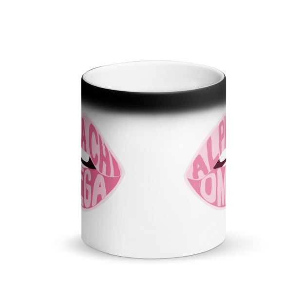 Alpha Chi Omega Magic Coffee Mug - Pink Lips