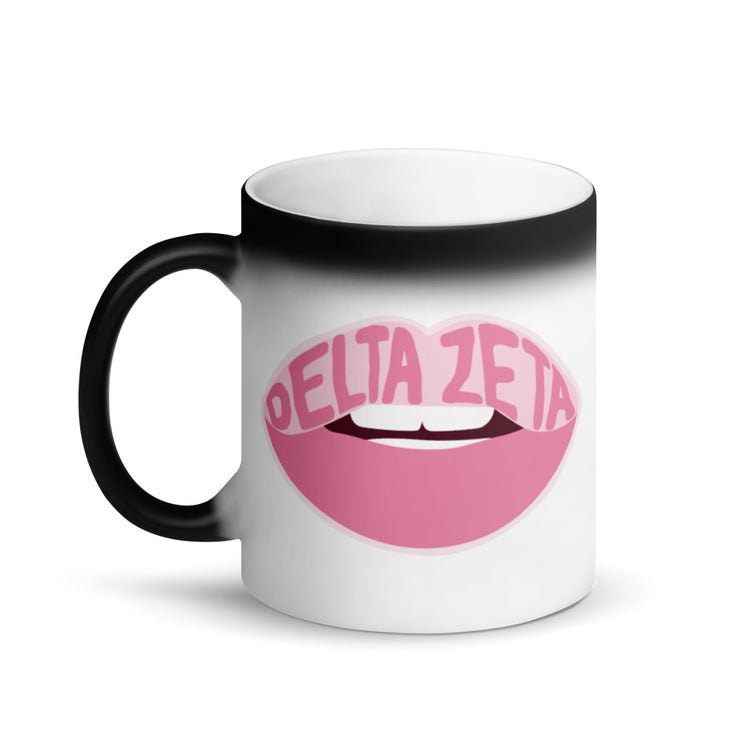 Delta Zeta Magic Coffee Mug - Pink Lips