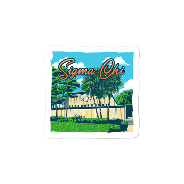 University of Florida - Sigma Chi - Chapter House Sticker
