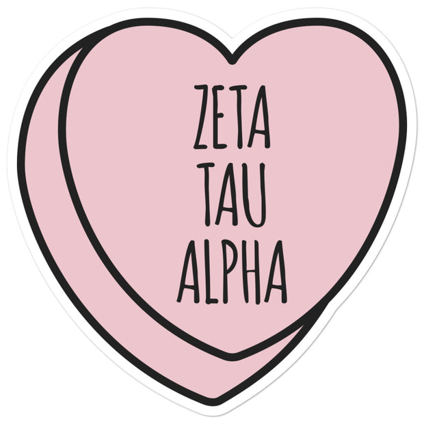 Zeta Tau Alpha Sweetheart - Sticker
