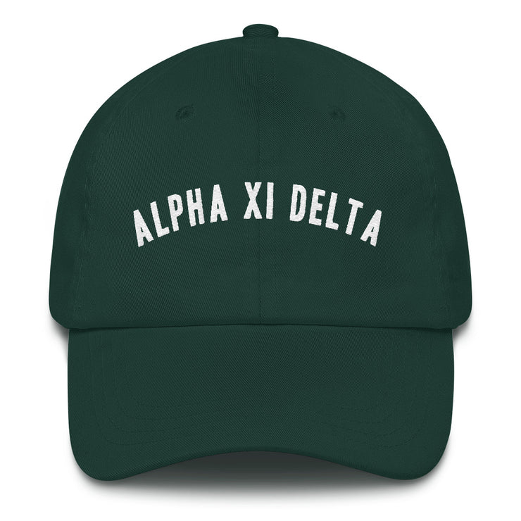 Alpha Xi Delta lifted hat