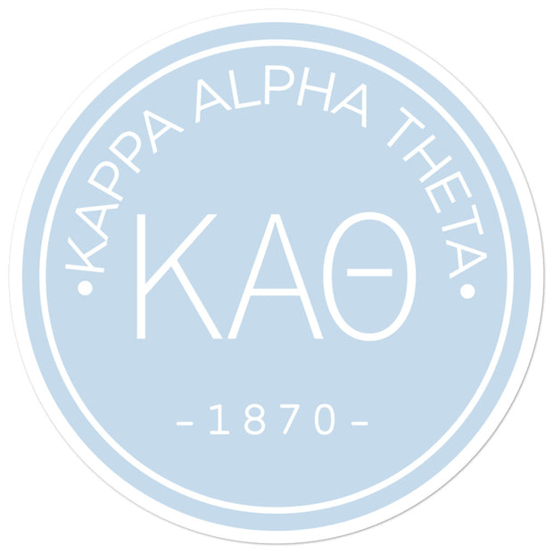 Kappa Alpha Theta circle sticker
