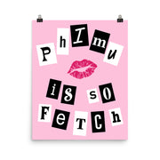 Phi Mu Poster- So Fetch
