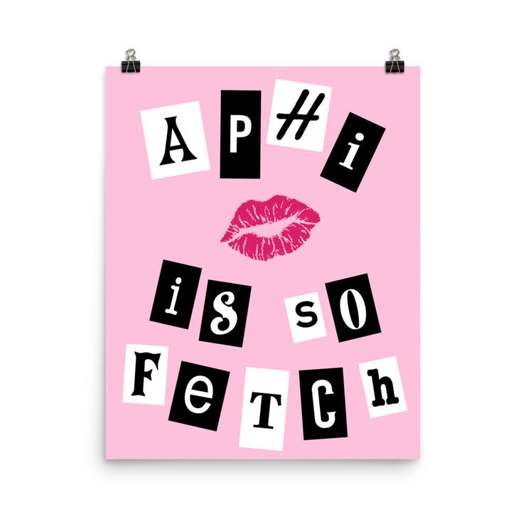 Alpha Phi Poster- So Fetch