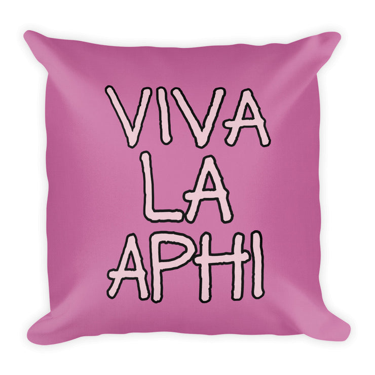 Alpha Phi Throw Pillow - Viva La