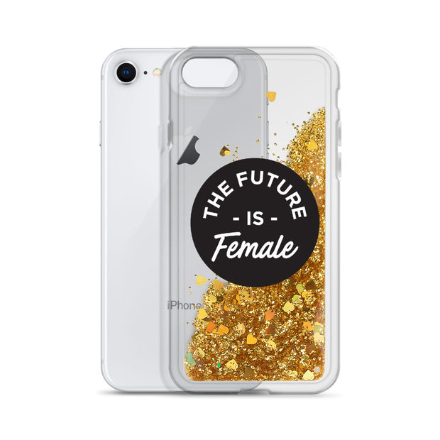 Future is Female Liquid Glitter Phone Case