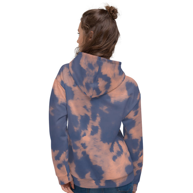 Chi Omega Tie Dye Boxy Hoodie