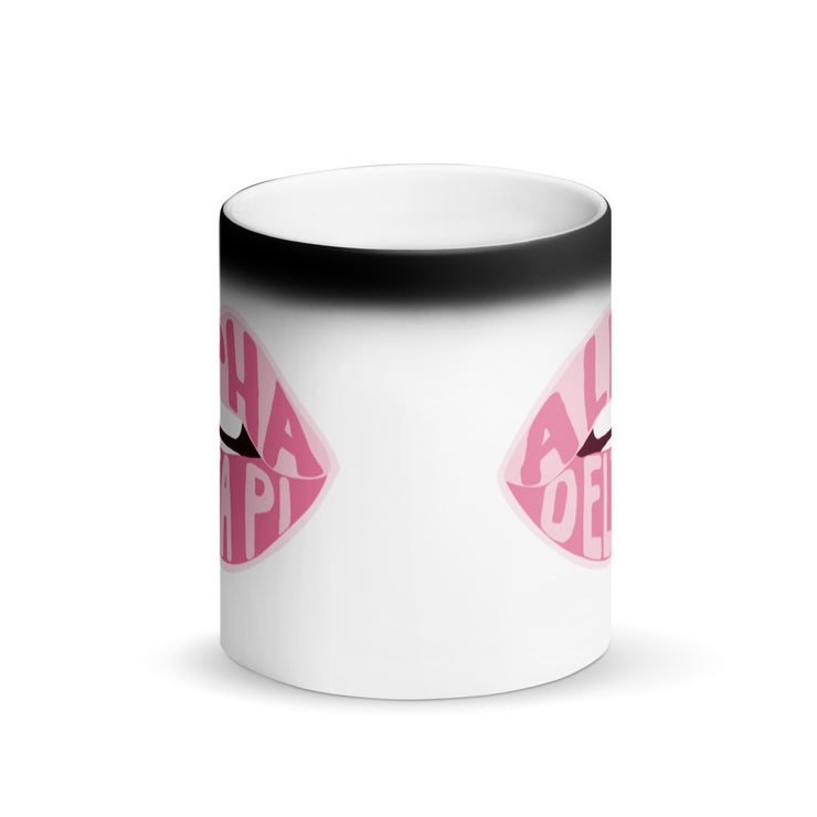 Alpha Delta Pi Magic Coffee Mug - Pink Lips