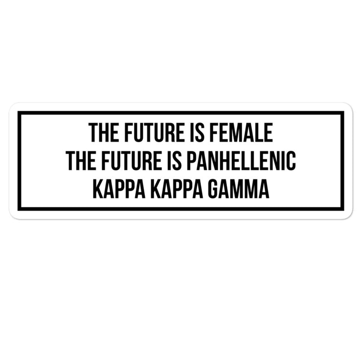 Kappa Kappa Gamma The Future is Panhellenic - Sticker