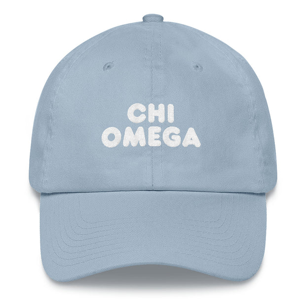 Chi Omega basic bubble hat