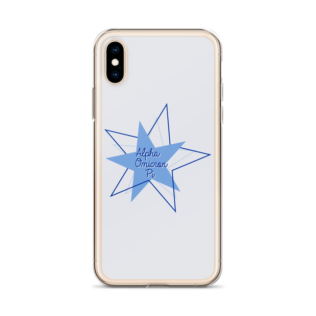 Alpha Omicron Pi Phone Case - Bring on the Blue Stars