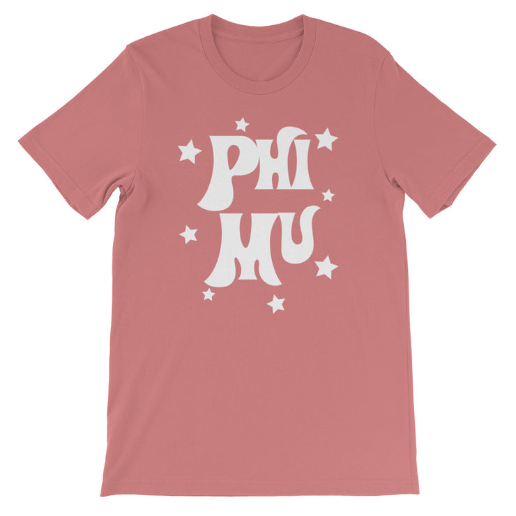 Phi Mu Starred Up Unisex T-Shirt