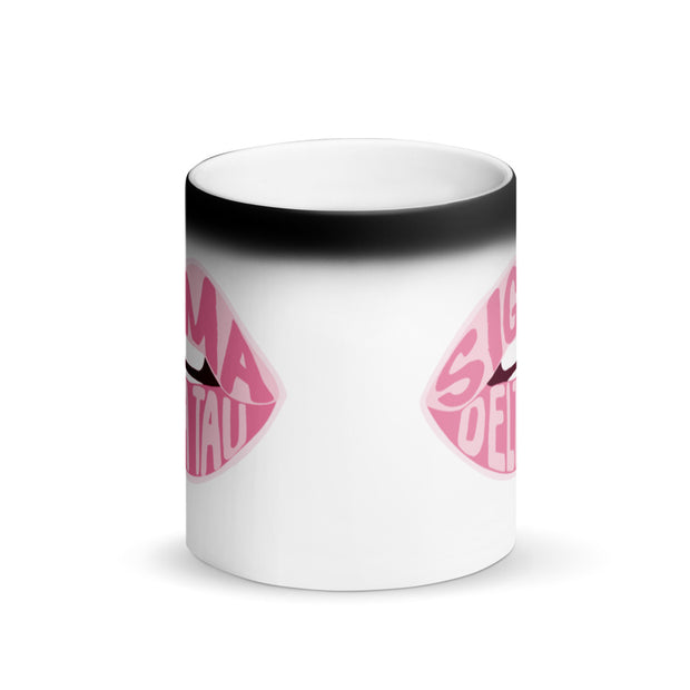 Sigma Delta Tau Magic Coffee Mug - Pink Lips