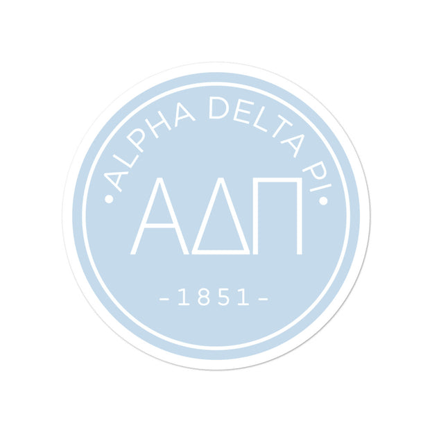 Alpha Delta Pi circle sticker