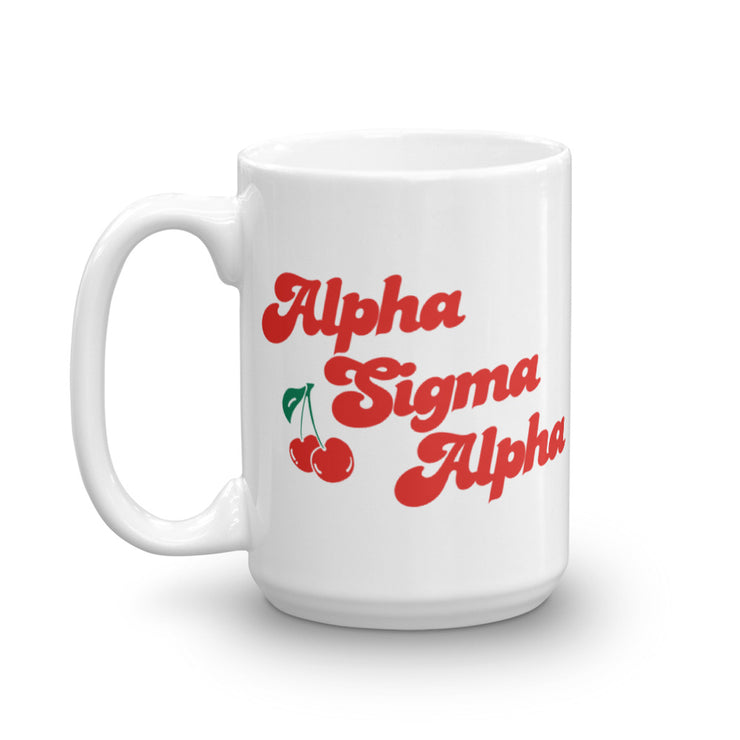Alpha Sigma Alpha Coffee Mug - Cherry on Top