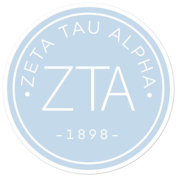 Zeta Tau Alpha circle sticker
