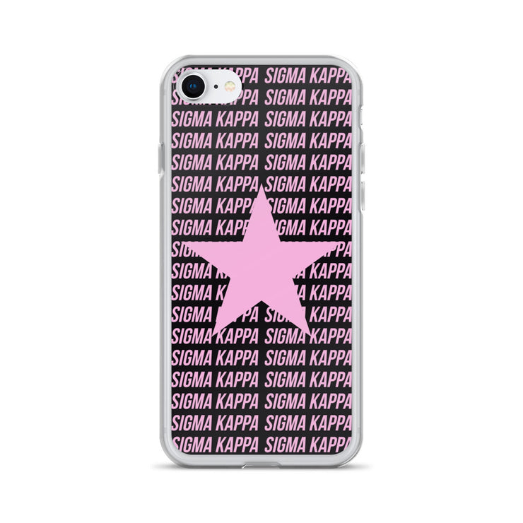 Sigma Kappa Phone Case - Center of Attention Star