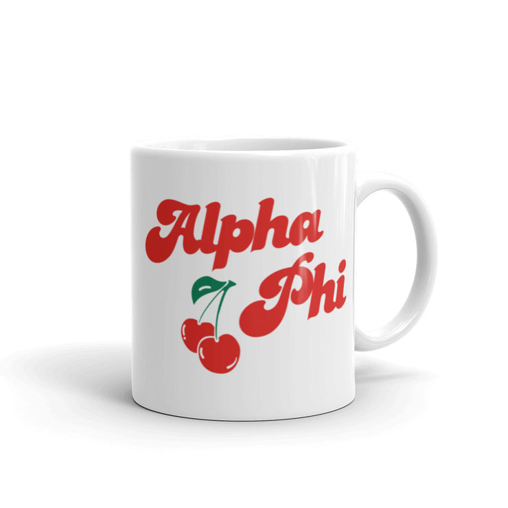 Alpha Phi Coffee Mug - Cherry on Top