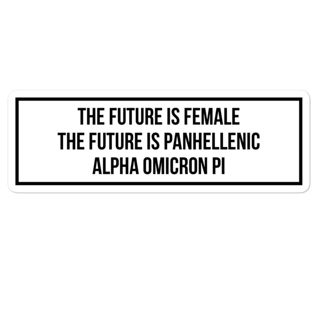 Alpha Omicron Pi The Future is Panhellenic - Sticker