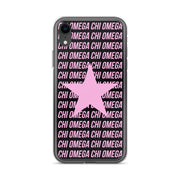 Chi Omega Phone Case - Center of Attention Star