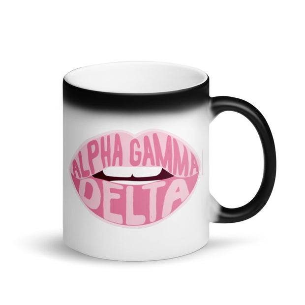 Alpha Gamma Delta Magic Coffee Mug - Pink Lips