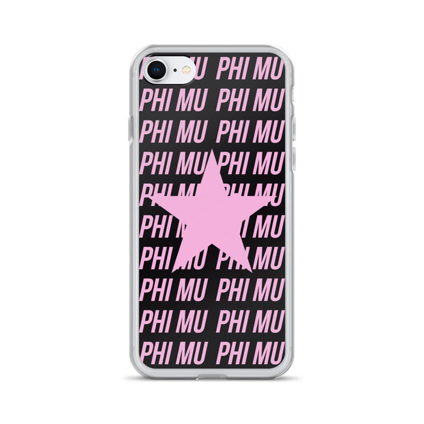 Phi Mu Phone Case - Center of Attention Star