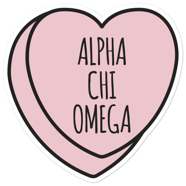 Alpha Chi Omega Sweetheart - Sticker