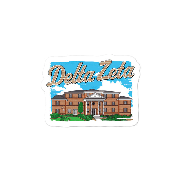 University of Florida - Delta Zeta - Chapter House Sticker