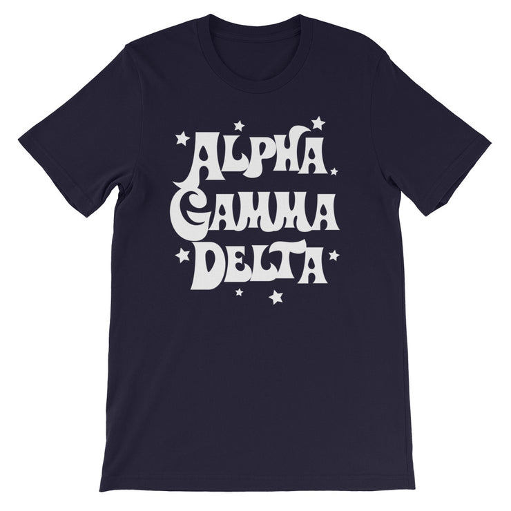 Alpha Gamma Delta Starred Up Unisex T-Shirt