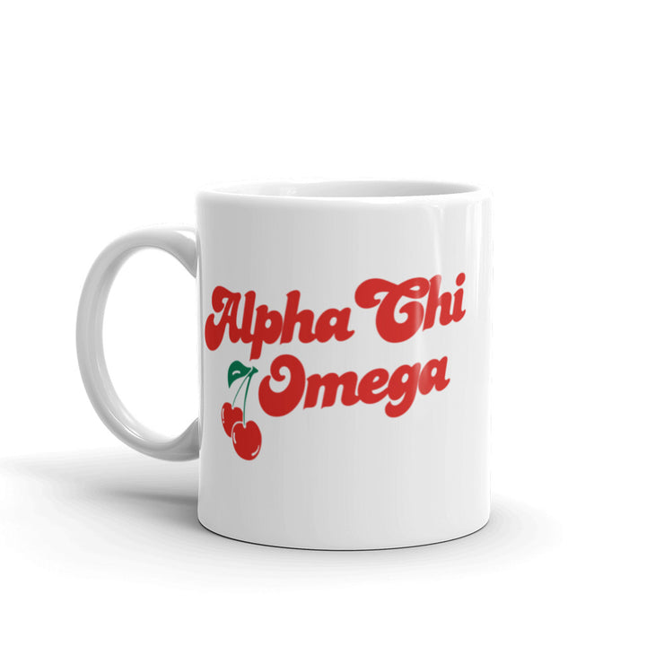 Alpha Chi Omega Coffee Mug - Cherry on Top