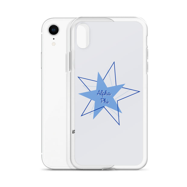 Alpha Phi Phone Case - Bring on the Blue Stars
