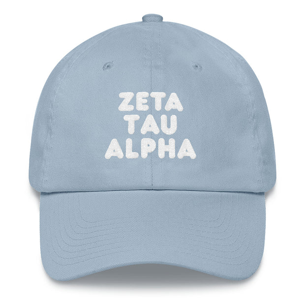 Zeta Tau Alpha basic bubble hat