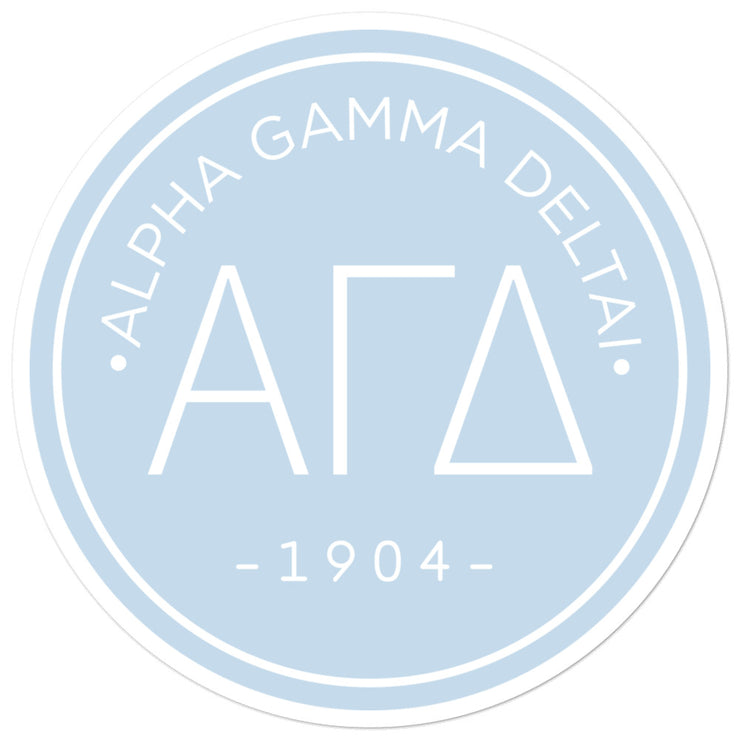 Alpha Gamma Delta circle sticker