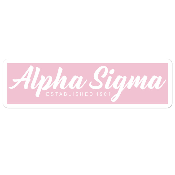 Alpha Sigma Alpha stickers