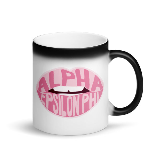 Alpha Epsilon Phi Magic Coffee Mug - Pink Lips