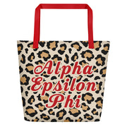 Alpha Epsilon Phi Red Hot Cheetah - Tote Bag