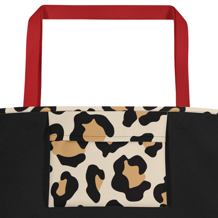 Chi Omega Red Hot Cheetah - Tote Bag