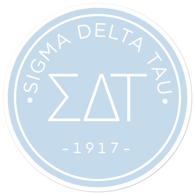 Sigma Delta Tau circle sticker