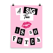 Alpha Sigma Tau Poster- So Fetch