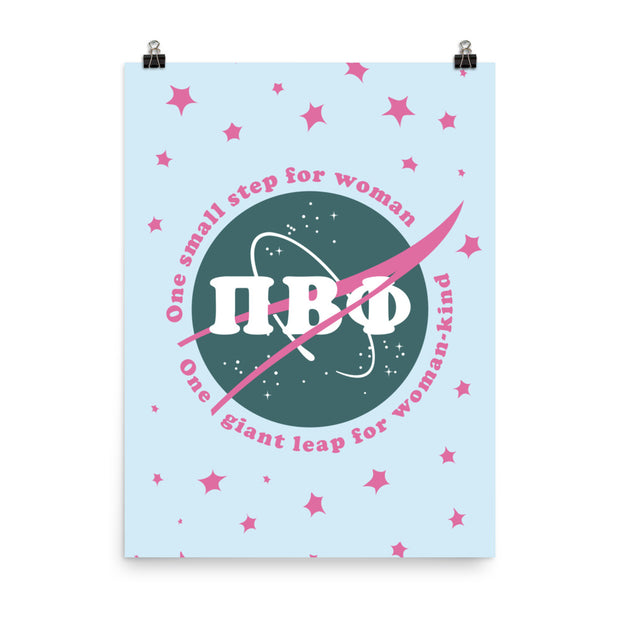 Pi Beta Phi Poster- Girl Pwr NASA