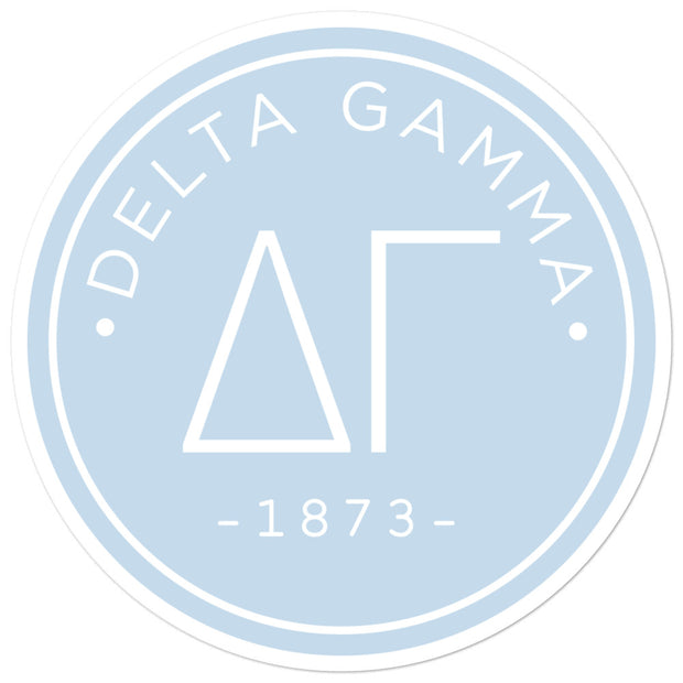Delta Gamma circle sticker