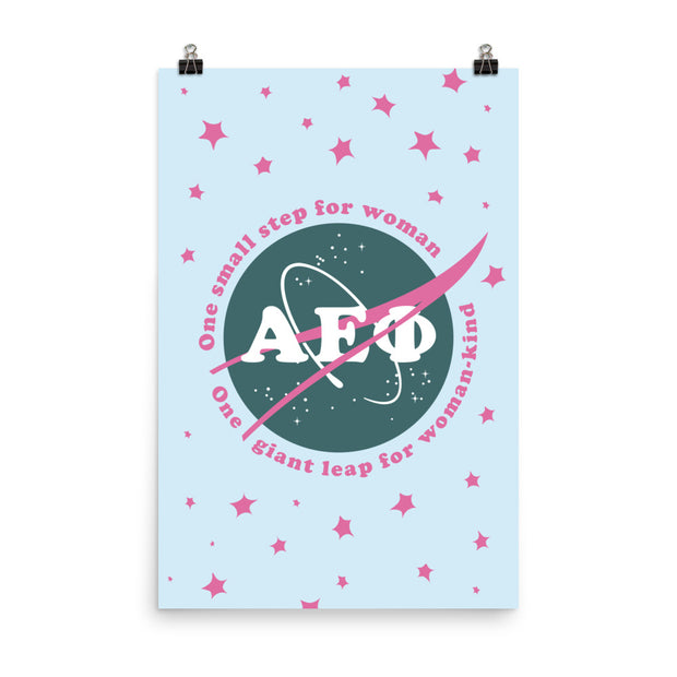 Alpha Epsilon Phi Poster- Girl Pwr NASA