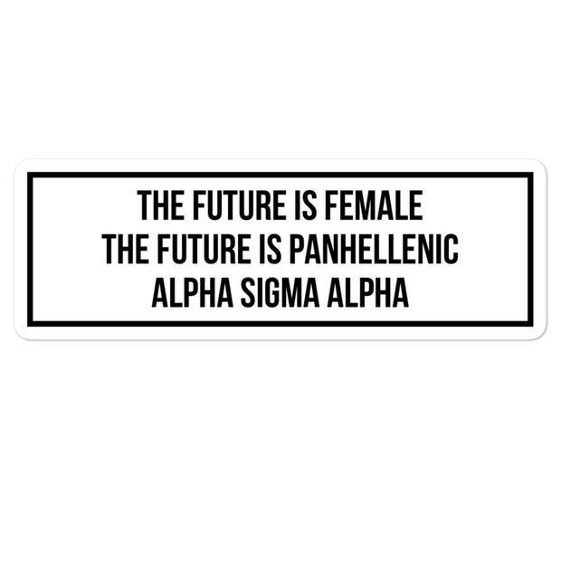 Alpha Sigma Alpha The Future is Panhellenic - Sticker